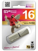 Флеш Диск Silicon Power 16Gb Marvel M50 SP016GBUF3M50V1C USB3.0 золотистый
