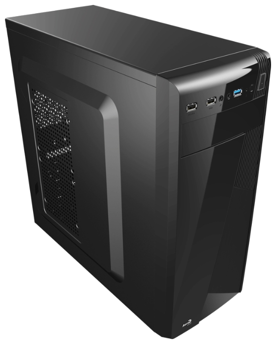 Корпус Aerocool Cs-1101 черный (Midi-Tower/mATX/2xUSB3.0/1xUSB3.0/audio)