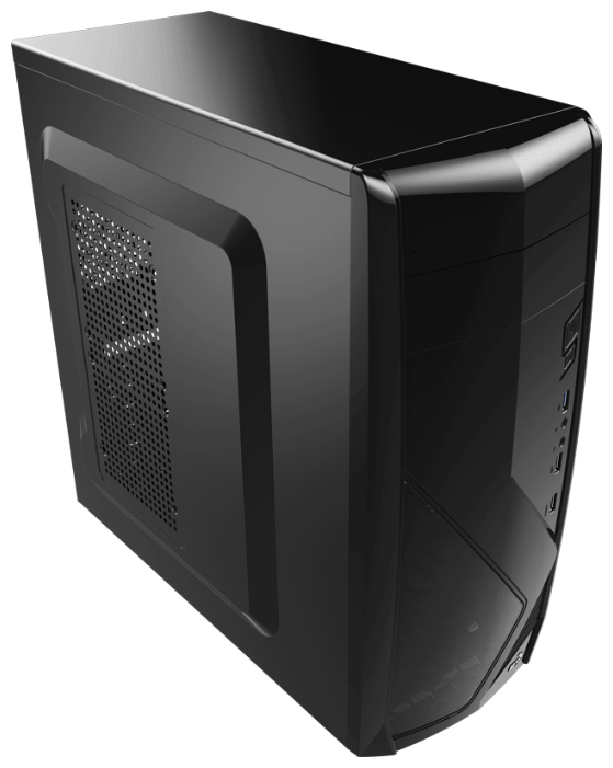 Корпус Aerocool Cs-1102 черный (Midi-Tower/mATX/2xUSB3.0/1xUSB3.0/audio)