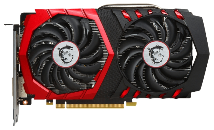 Видеокарта MSI GeForce GTX1050 GAMING 2G (2048Mb/128b/GDDR5/1354/7108/DVIx1/HDMIx1/DPx1)