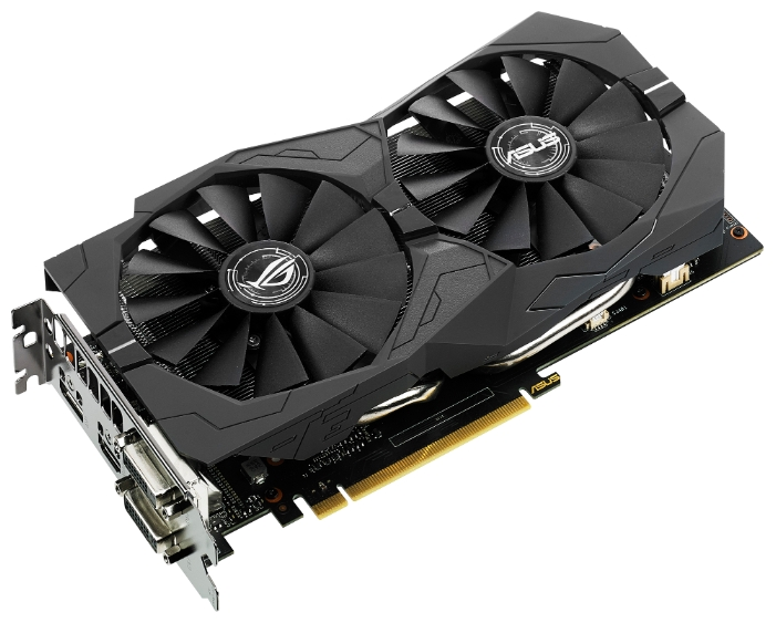 Видеокарта Asus GeForce GTX1050Ti STRIX GAMING 4G (4096Mb/128b/GDDR5/1379/7008/DVIx2/HDMIx1/DPx1)
