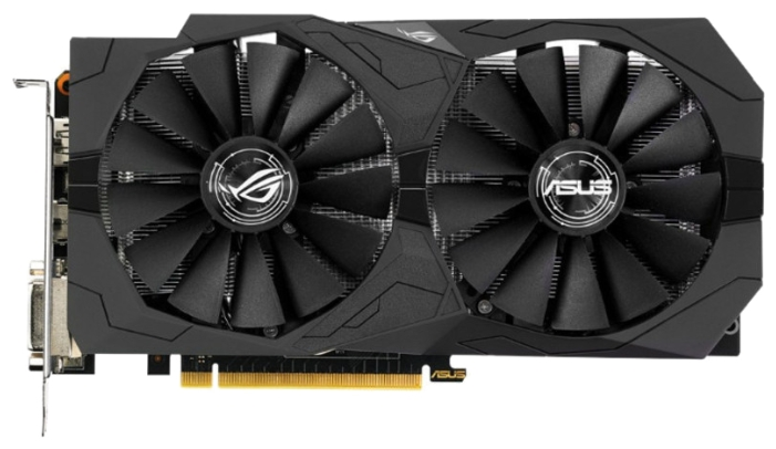 Видеокарта Asus GeForce GTX1050 STRIX GAMING O2G (2048Mb/128b/GDDR5/1442/7008/DVIx2/HDMIx1/DPx1)