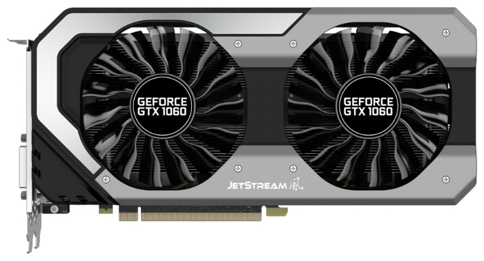 Видеокарта Palit GeForce GTX 1060 SUPER JETSTREAM 3G (3072Mb/192b/GDDR5/1620/8000/DVIx1)